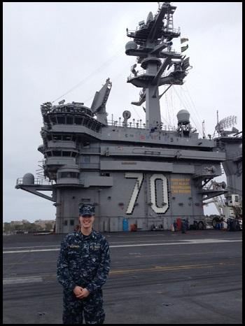 Hoerner on USS Carl Vinson